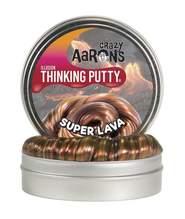 "Crazy Aaron's Thinking Putty Super Lava 4"""