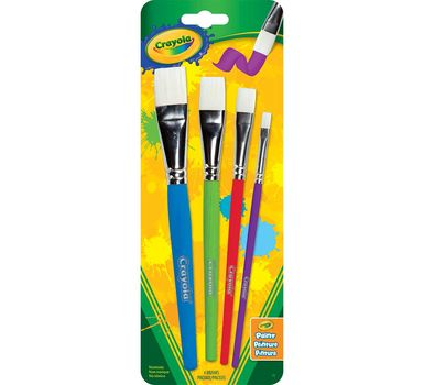 Crayola 4 ct. Flat Brush Set
