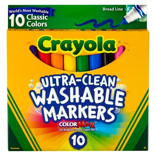 Crayola 10 ct. Classic Broad Line Washable Markers