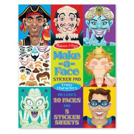 Make-A-Face Crazy Characters Sticker Pad Melissa & Doug