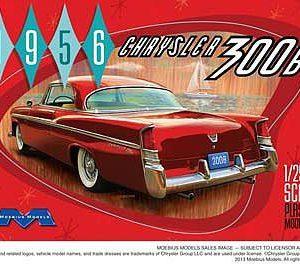 1956 Chrysler 300B 1/25th Scale Plastic Model Kit
