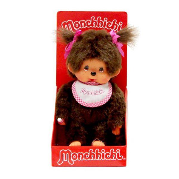 Monchhichi Standard Girl Pink and White