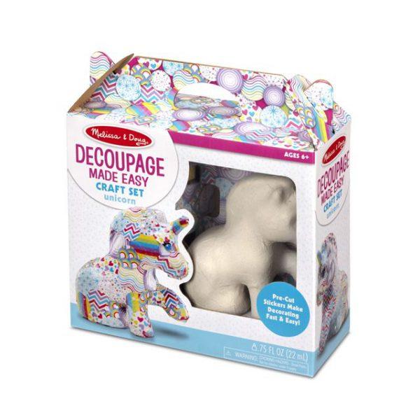 Decoupage Made Easy Craft Set Unicorn Melissa and