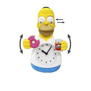 Clock - The Simpsons Homer Simpson 3-D Motion Cloc