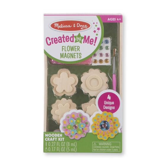 Melissa & Doug Created by Me Flower Magnets Wooden