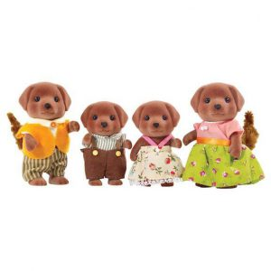 Calico Critters Chocolate Lab Family