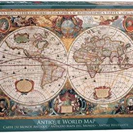1000 pcs. Antique World Map Puzzle Eurographics